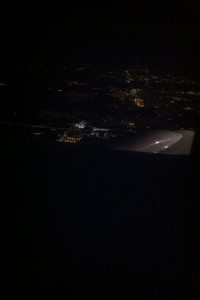 Late night landing. A bird's eye view of O'Hare. (photo courtesy of Davica)