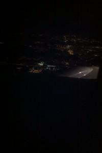 Late night landing. A bird's eye view of O'Hare. (photo courtesy of Davica)